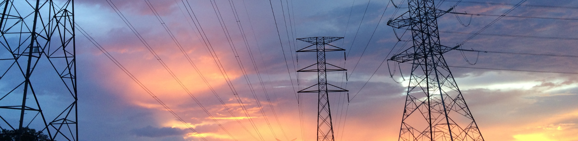 Pylons at dawn