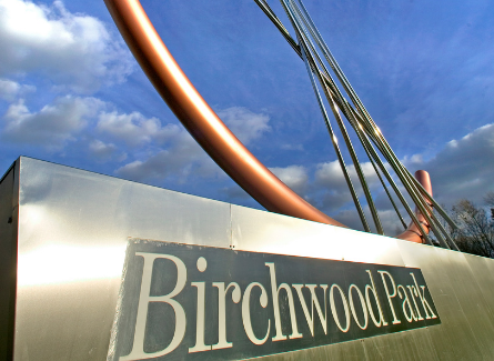 Birchwood Park roundabout sign